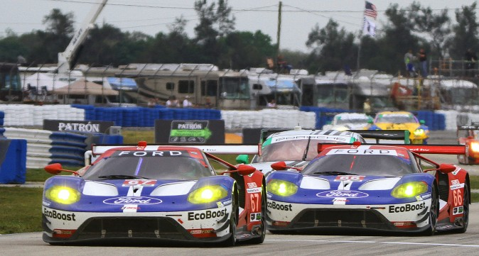 Ford-Ganassi will be back with the two-car attack which netted the team fourth and fifth in class in 2016. After a season of success, including 24-hour wins at Le Mans and Daytona, the Ford GTs might be considered the favorites. (Chris Jasurek/Epoch Times)