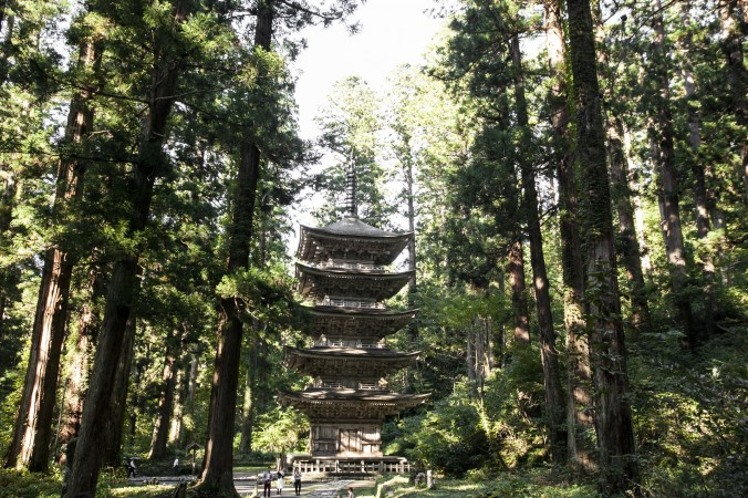 A five-story pagoda at the Mount Haguro shrine. Built in the year 937, this is the oldest pagoda in northern Japan. (Annie Wu/Epoch Times)