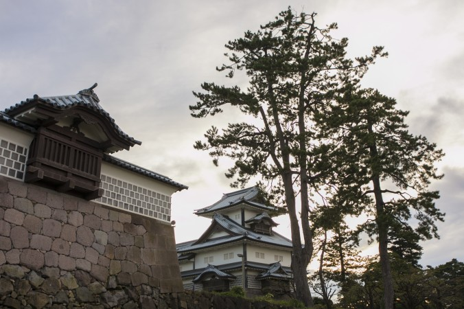 The Kanazawa Castle, across the street from the Kenrokuen Garden. (Annie Wu/Epoch Times)