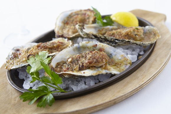 Baked oysters. (Courtesy of Oceana)