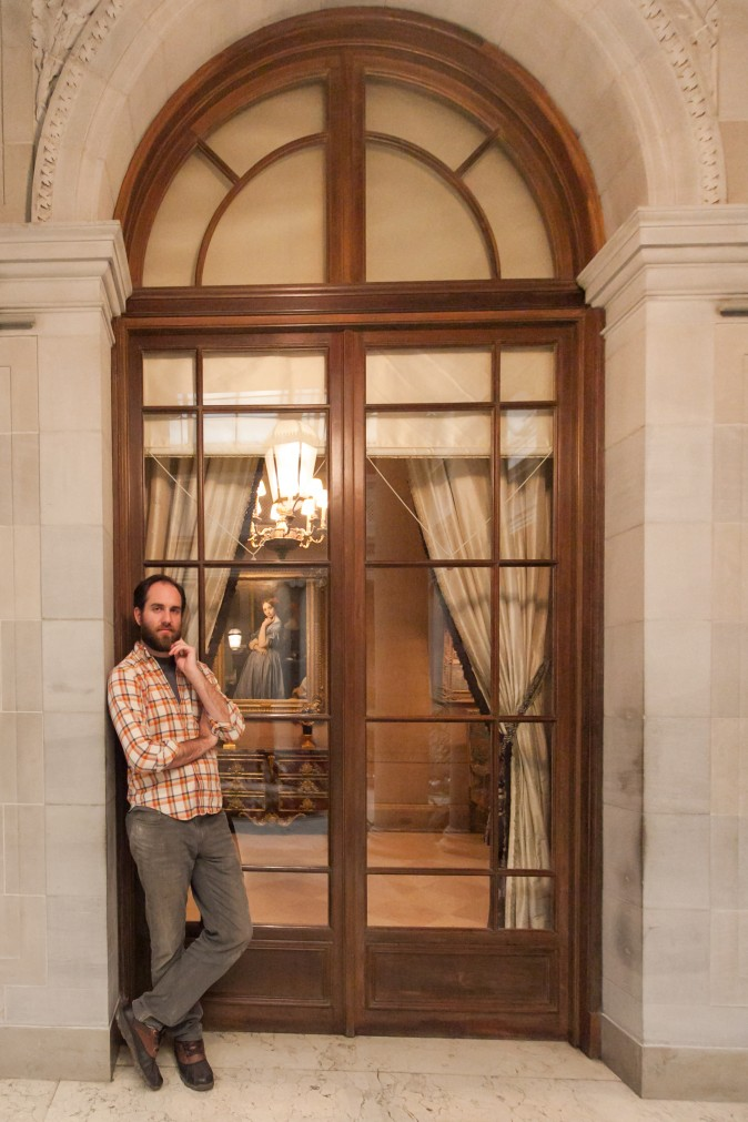 Artist, Brendan Johnston visits The Frick Collection in New York on Jan. 26, 2017. (Milene Fernandez/Epoch Times)