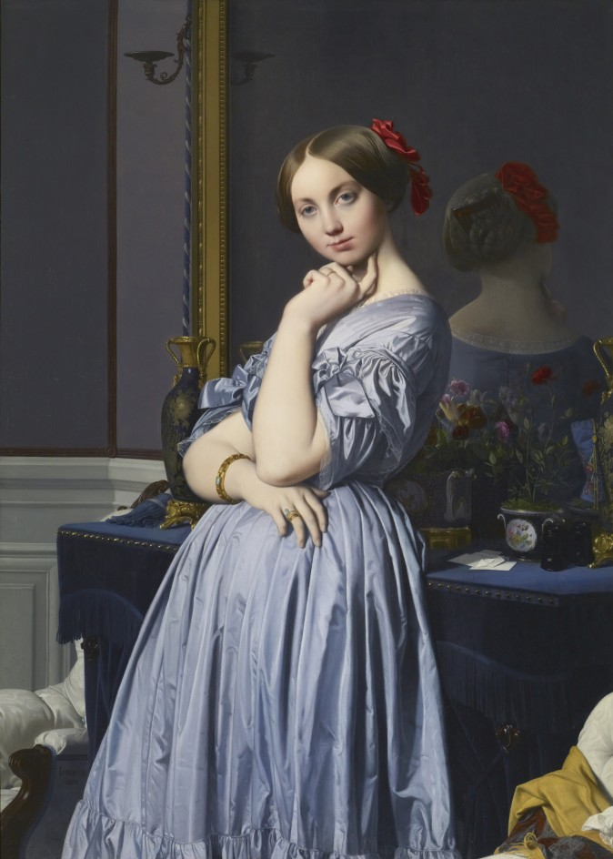 """Comtesse d'Haussonville,"" 1845, by Jean-Auguste-Dominique Ingres (1780 - 1867). Oil on canvas 51 7/8 inches by x 36 1/4 inches, The Frick Collection. (Michael Bodycomb)"