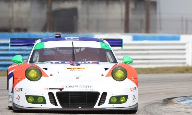 Colin Braun in the #54 Core Autosport Porsche 911 GT3 was quickest in GTD. (Chris Jasurek/Epoch Times)