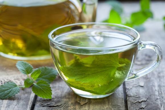 Lemon balm tea. (GreenArt/Shutterstock)