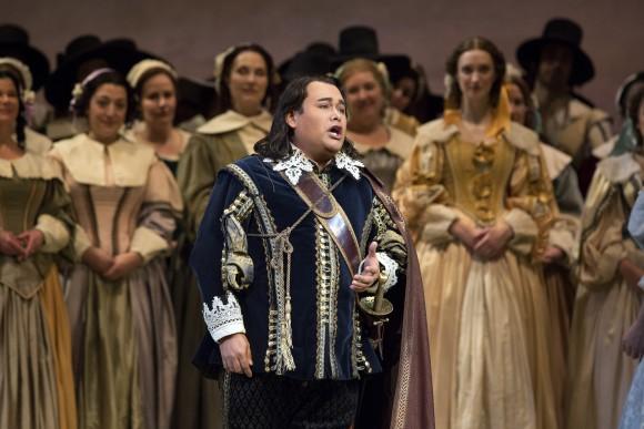 Javier Camarena as Arturo. (Marty Sohl/Metropolitan Opera)