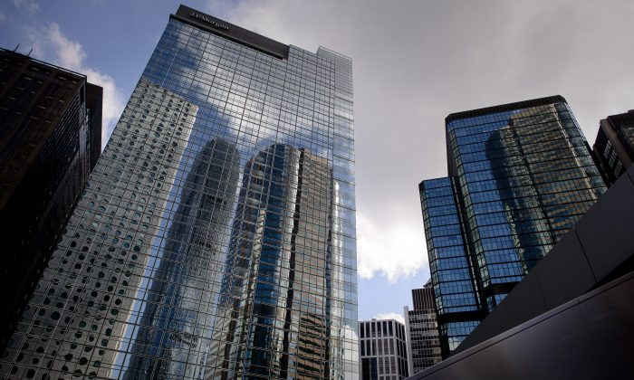 The headquarters of investment bank JPMorgan at Chater House in Hong Kong. (Philippe Lopez/AFP/Getty Images)