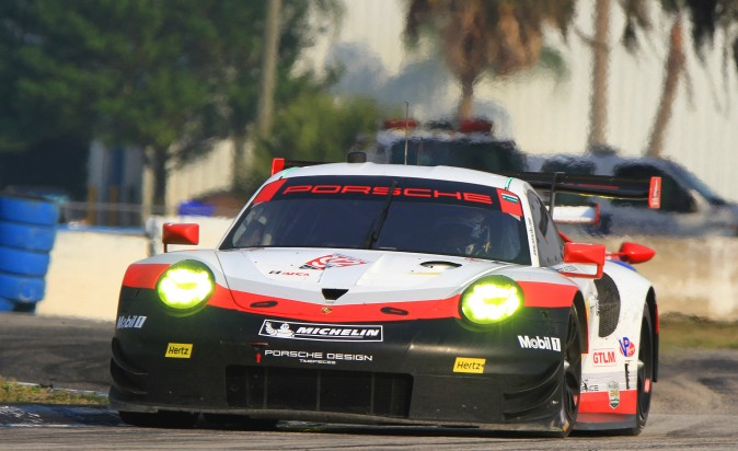 Dirk Werner set the second-quickest GTLM lap in the #912 Porsche GT team 911-RSR. (Chris Jasurek/Epoch Times)