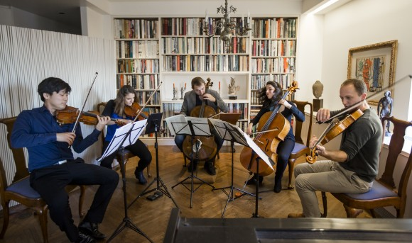 Manhattan Chamber Players at rehearsal. (Samira Bouaou/Epoch Times)