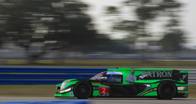 Ryan Dalziel was sixth quickest among the prototypes in the #2 Patron ESM Nissan DPi. (Chris Jasurek/Epoch Times)