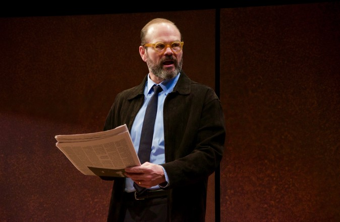 Chris Bauer in the world premiere of David Mamet's The Penitent, directed by Neil Pepe (Doug Hamilton)