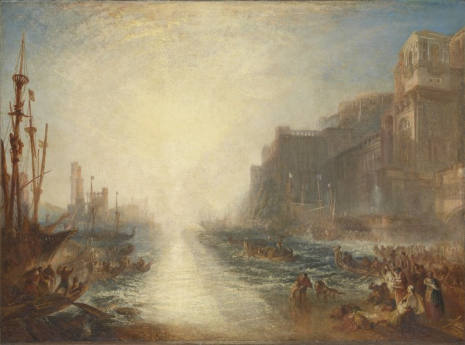 """Regulus,"" exhibited 1828, reworked and exhibited 1837, by J.M.W. Turner. Oil on canvas, 35 1/4 inches by 48 3/4 inches, Tate; Accepted by the nation as part of the Turner Bequest 1856  (Tate, London)"