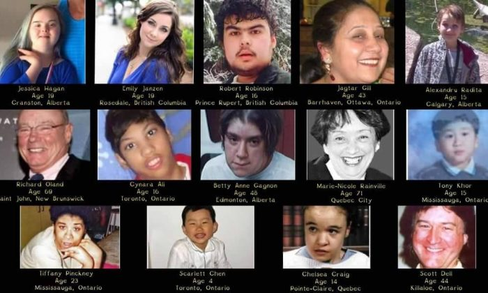 Some of the 700 people with disabilities who were murdered by relatives or caregivers over the last 35 years. (Autistic Self Advocacy Network)