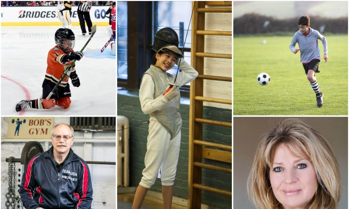 Clockwise from Top R (Harry How/Getty Images; Petr Svab/Epoch Times; Digital Media Pro/Shutterstock; Olympian Alexandra Allred; Benjamin Chasteen/Epoch Times)