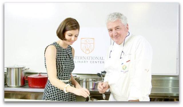 Sibylle Eschapasse and chef Jean-Louis Dumonet. (Melinda Martinez/Celebrity Taste Makers)