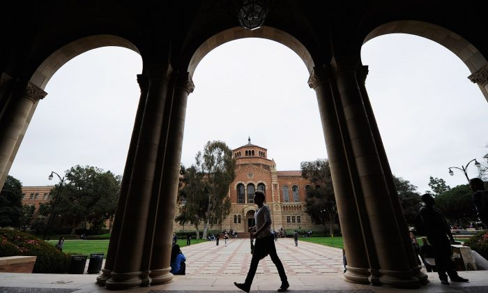The Royce Hall on the campus of UCLA  in Los Angeles in this file photo. (Kevork Djansezian/Getty Images)