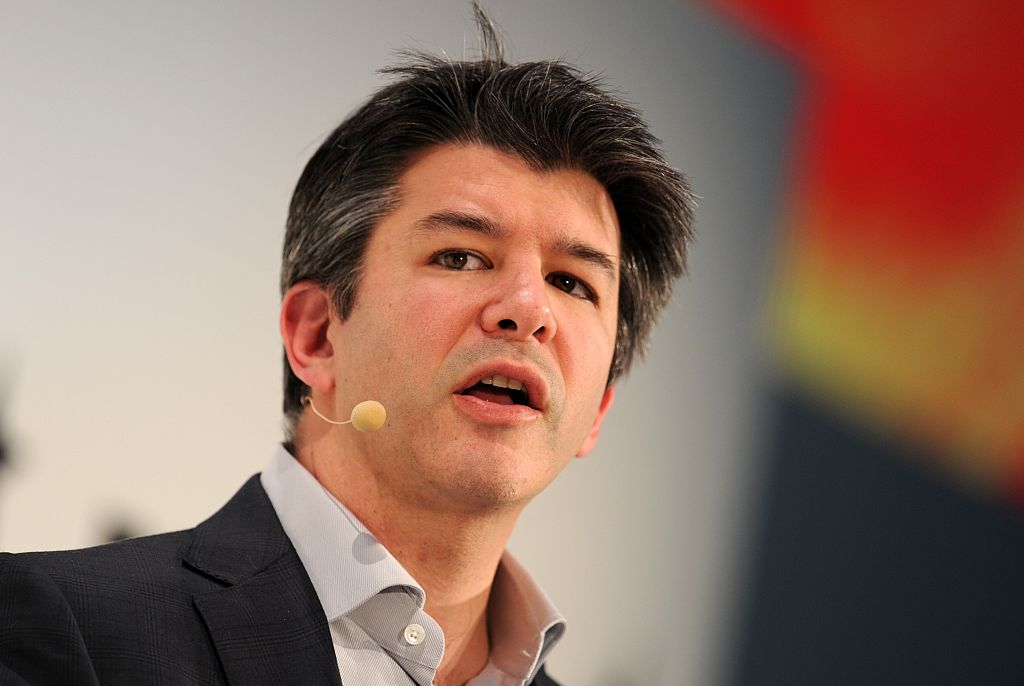 Travis Kalanick, co-founder of the US transportation network company Uber, during the opening of the Digital Life Design (DLD) Conference in Munich, southern Germany on Jan. 18, 2015. (TOBIAS HASE/AFP/Getty Images)