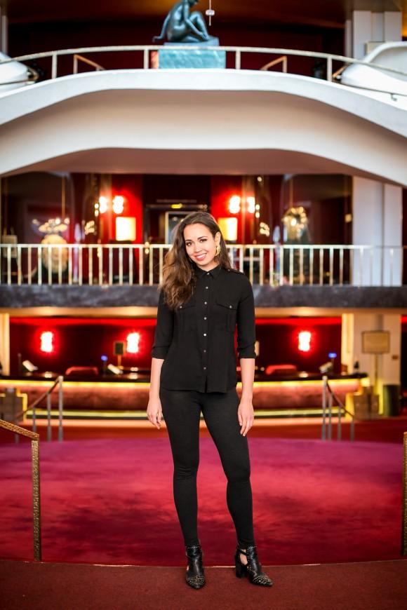 Soprano Nadine Sierra in the lobby of Lincoln Center's Metropolitan Opera House in New York on Feb. 28, 2017. (Benjamin Chasteen/Epoch Times)