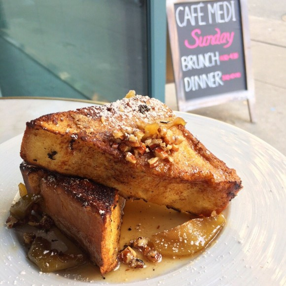 Café Medi French toast. (Courtesy of Café Medi)