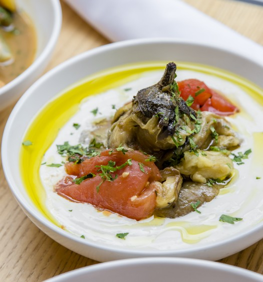 Grilled Eggplant and Garlic Aioli. (Samira Bouaou/Epoch Times)