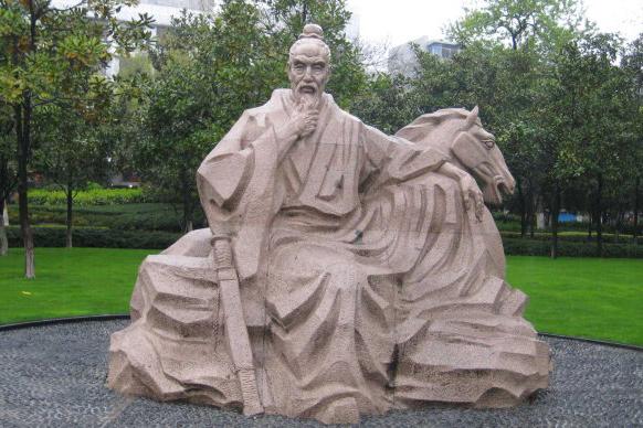 Ji Zha's statue located in his territorial land, in today's Shengang Town, Jiangyin City, Jiangsu Province, China. (Internet photo)