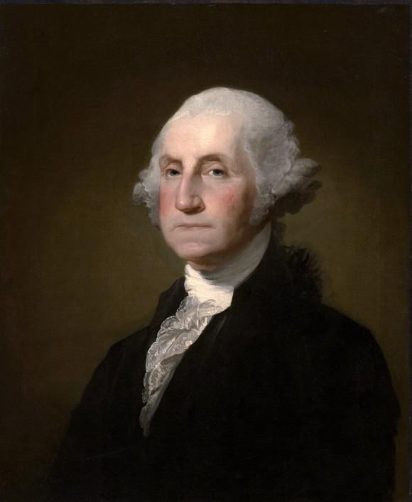 Portrait of George Washington (1732–99) (public domain)