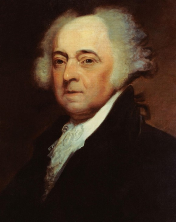 A painting of President John Adams (1735-1826), 2nd president of the United States, by Asher B. Durand (1767-1845). (public domain)