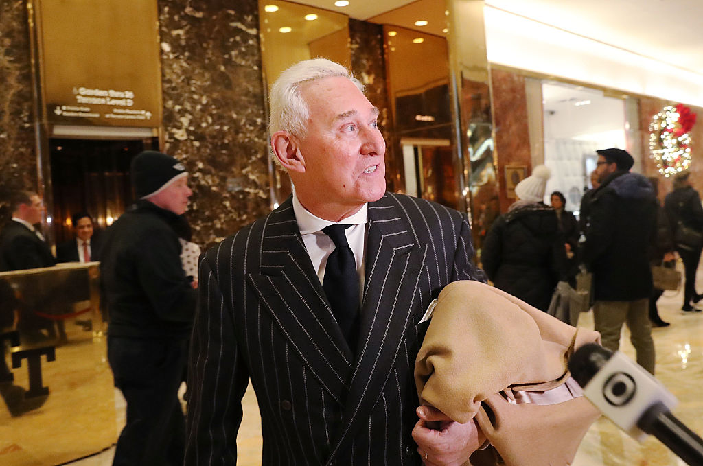 Roger Stone speaks to the media at Trump Tower in New York City on Dec.6, 2016. (Spencer Platt/Getty Images)