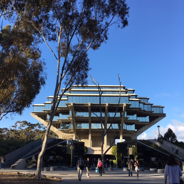 The Geisel Library at the University of California, San Diego, on Feb. 22, 2017. (Gisela Sommer/Epoch Times)