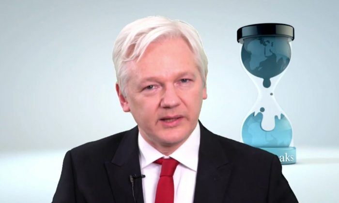 WikiLeaks founder  Julian Assange speaks in this video made available on March 9, 2017. (WikiLeaks via AP)