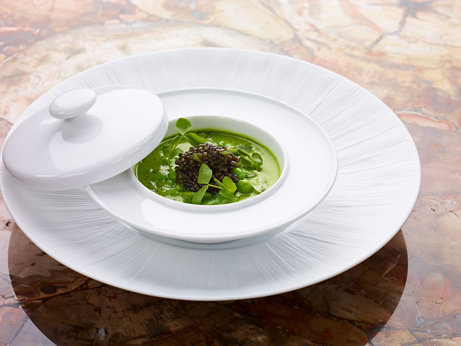 Greens with lentils. (Courtesy of Bouley Botanical)