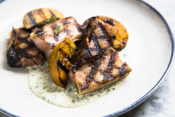 Grilled bacon 'steak.' (Samira Bouaou/Epoch Times)