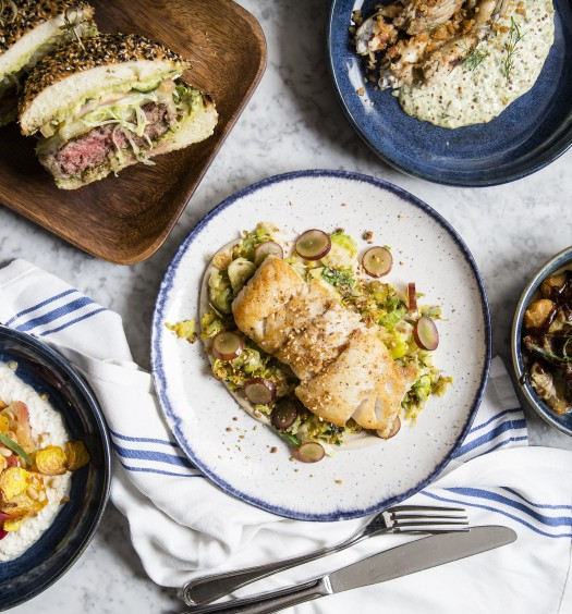 A spread of dishes at The Wooly Public in downtown Manhattan. (Samira Bouaou/Epoch Times)