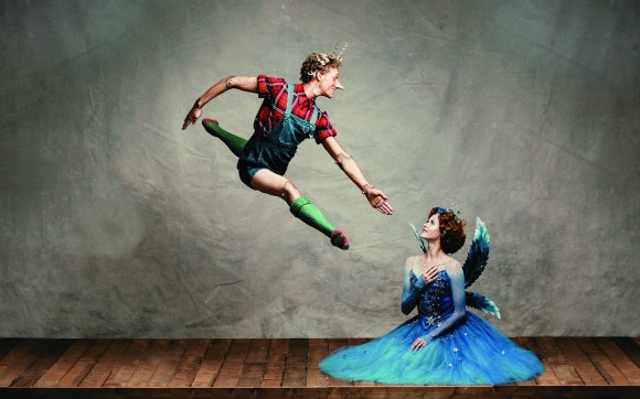 Skylar Campbell as Pinocchio and Heather Ogden as the Blue Fairy. (Karolina Kuras)