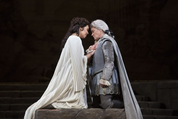 Nadine Sierra as Ilia and Alice Coote as Idamante in Mozart's Idomeneo. (Marty Sohl/Metropolitan Opera)