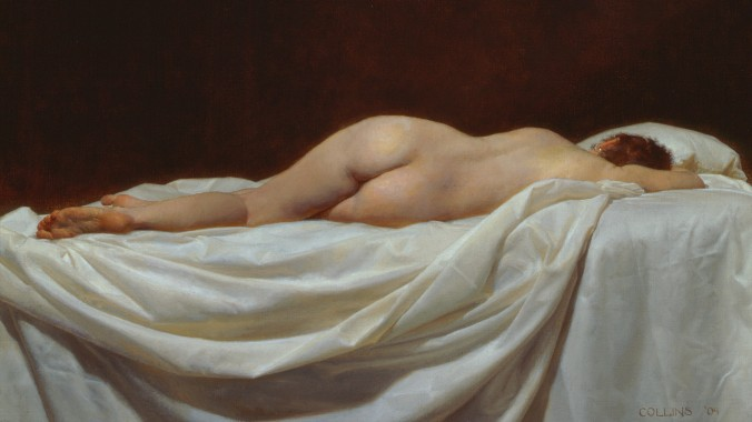 """Penelope,"" 2012, by Jacob Collins. Oil on canvas, 28 inches by 44 inches. (Courtesy of Jacob Collins)"