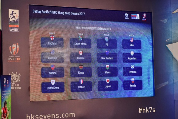 Main draw of Hong Kong Rugby Sevens on March 13, 2017. (Bill Cox/Epoch Times)