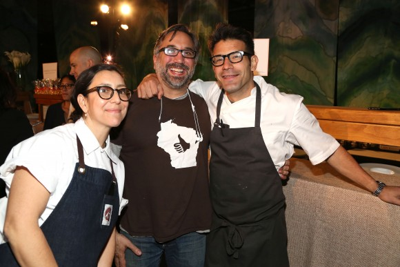 (L–R) Chefs Alex Raij, Marco Canora, and George Mendes. (Sylvain Gaboury)