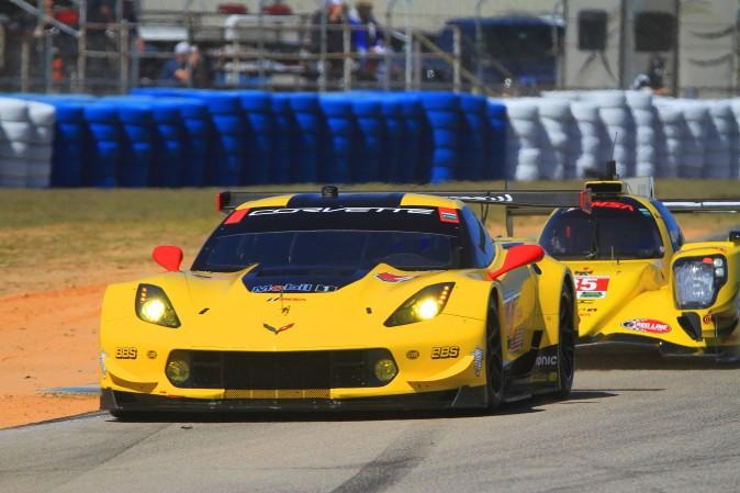 Tom Milner led GTLM in the #4 Corvette Racing C7.R. (Chris Jasurek/Epoch Times)