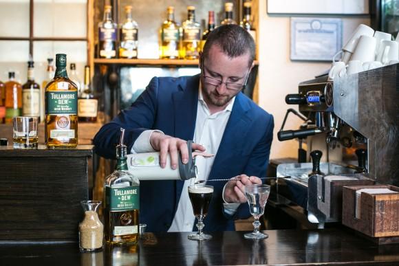 Herlily makes the perfect Irish coffee. (Benjamin Chasteen/Epoch Times)