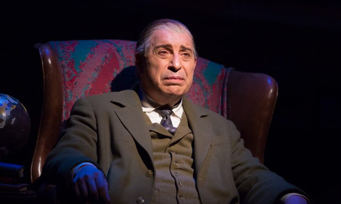 """Max McLean in """"The Most Reluctant Convert."""" McLean wrote as well as co-directed the play with Ken Denison. (Jeremy Daniel)"""