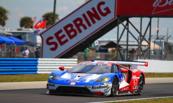 "Ryan Briscoe is no longer a ""former IndyCar star;"" he has become a legitimate sportscar racing star, as his GTLM pole at Sebring proves. (Chris Jasurek/Epoch Times)"