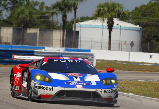 After four hours, Ford was first and second in GTLM. (Chris Jasurek/Epoch Times)
