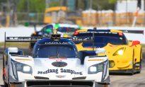 Mustang Sampling Cadillac Leads Halfway Through IMSA Twelve Hours of Sebring