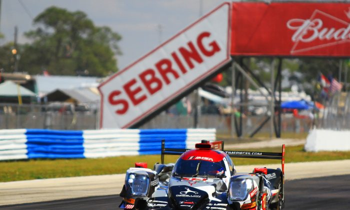 Rebellion Racing's Neel Jani captured the pole for the 65th IMSA WeatherTech Mobil Twelve Hours of Sebring with a record-setting lap in the #13 Oreca-Gibson, Friday, March 17, 2017. (Chris Jasurek/Epoch Times)