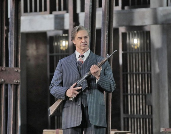 Greer Grimsley as Don Pizarro in Beethoven's Fidelio . (Ken Howard/Metropolitan Opera)