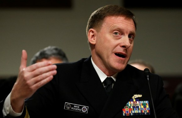 U.S. National Security Agency Director Admiral Mike Rogers testifies before a Senate Armed Services Committee hearing on foreign cyber threats, on Capitol Hill in Washington on Jan. 5, 2017. (REUTERS/Kevin Lamarque)