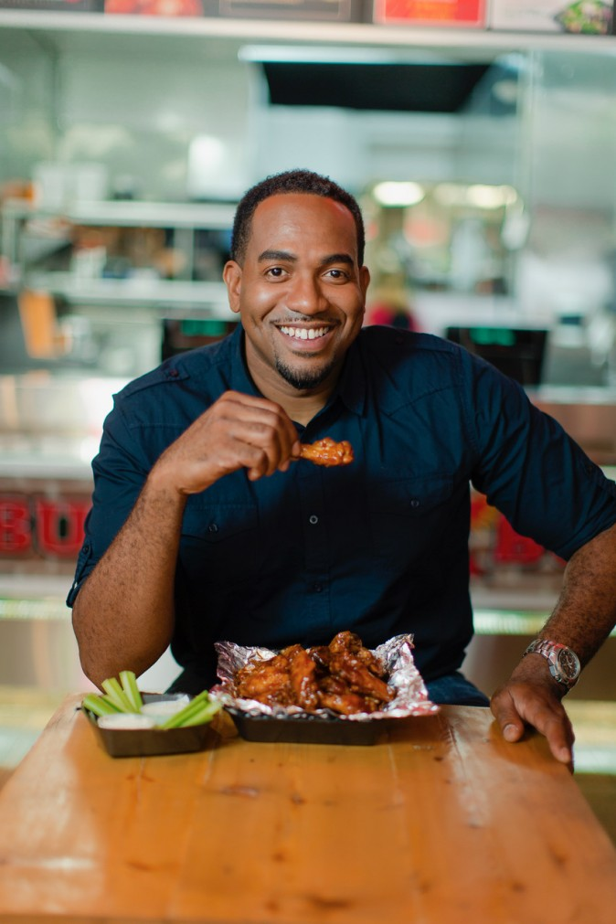 Jamar White, co-founder of Buffalo Boss, a New York based fast food restaurant. White, like many other small business owners turned to an alternative lender to keep his business afloat and going. (Courtesy of Buffalo Boss)