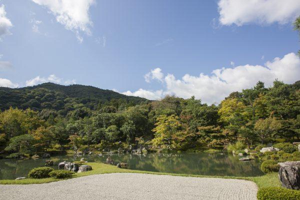 A garden inside the Tenruji temple, located in Arashiyama District. (Annie Wu/Epoch Times)