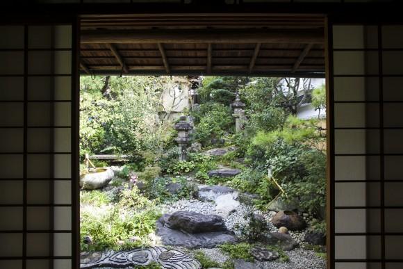 The garden at Ikkyu restaurant. (Annie Wu/Epoch Times)
