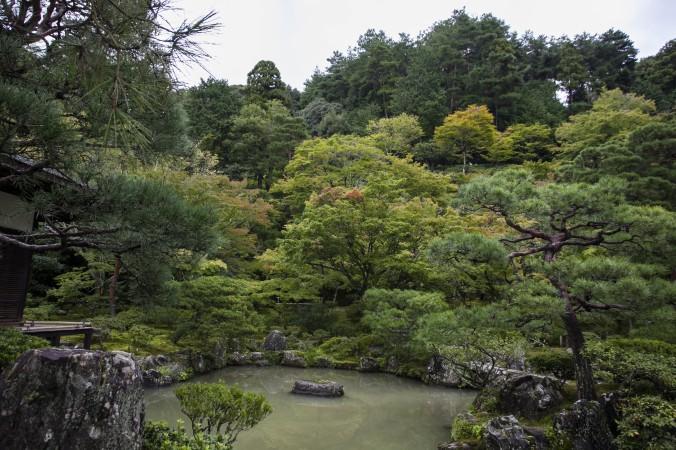 Inside the Ginkakuji Temple. (Annie Wu/Epoch Times)